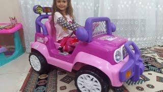 Новая МАШИНА.Большая розовая машина для детей.Видео для детей.Игра для детей.