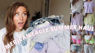 AMERICAN EAGLE SUMMER TRY ON HAUL 2020 | LOUNGEWEAR, SHORTS, & MORE!