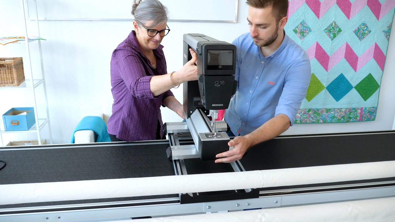 BERNINA Q 16 PLUS: Machine preparation