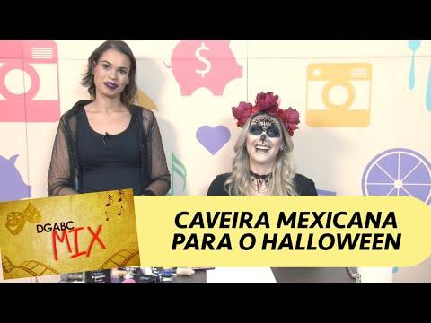 Aprenda maquiagem de caveira mexicana para Halloween