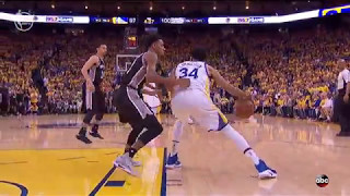 Warriors comeback game 1 thanks to Zaza Pachulia tactics & referees? SPURS GAME 1 RIGGED HIGHLIGHTS