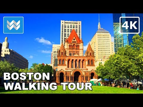Boston Walking Tour - Beacon Hill, Public Garden, Newbury Street | Travel Guide 【4K】