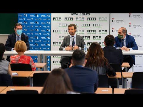 Pablo Casado interviene en el Curso de Verano de ATA para autónomos y emprendedores