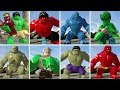 All Hulk Characters In Lego Marvel 39 s Avengers Transf
