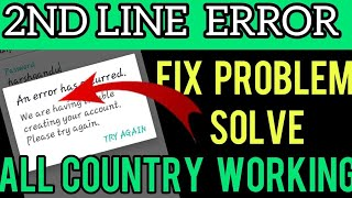 2nd Line Error Problem Solved 2021 ! Technical Videos . How to fix the error of text now.