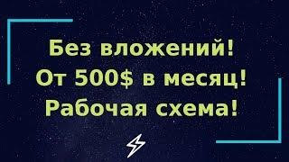 Как заработать в интернете с нуля от 500$ в месяц! Супер новая простая стратегия!