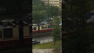На проспекте Энгельса загорелся трамвай
