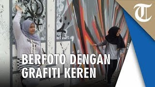 Mengintip Grafiti Keren di Tembok Institut Francais Indonesia, Background Foto Instagramable