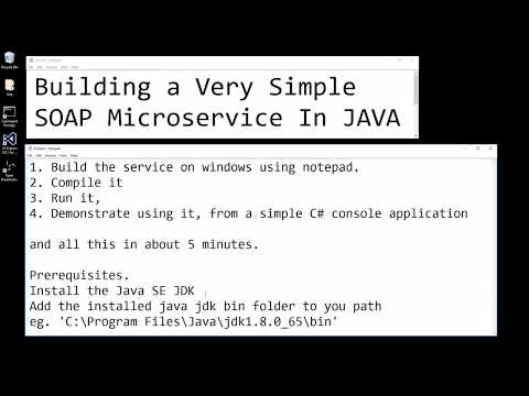 Building a very simple SOAP microservice in JAVA