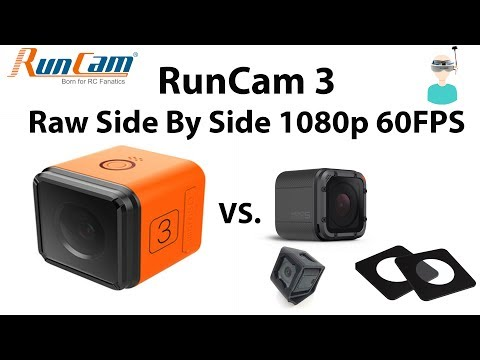 RunCam 3 Vs GoPro Hero Session 5 - Side By Side 1080 60fps Raw video