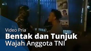 Viral Video Aksi Pria di Denpasar Bentak dan Tunjuk Wajah Anggota TNI saat Ditegur Tak Pakai Masker