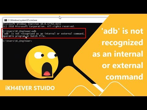 iKh4ever Studio: 'adb' is not recognized as an internal or