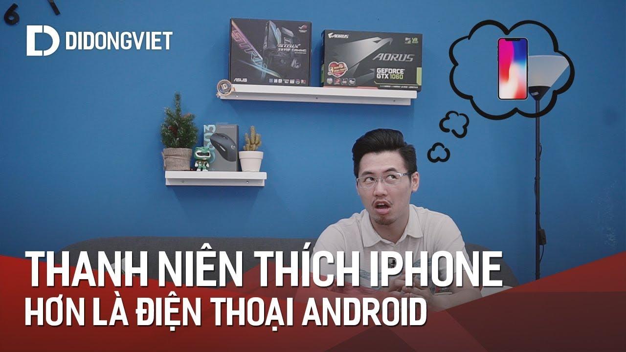 Thanh thiếu niên thích iPhone hơn điện thoại android
