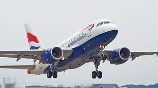 preview picture of video 'British Airways Airbus A318 G-EUNA Take Off at London City Airport [1080p HD]'