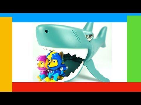 Щенячий патруль охотится за акулой. Игрушкин ТВ видео