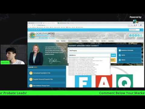 HOW TO PULL FREE PROBATE LEADS ONLINE (YT LIVE HIGHLIGHTS)
