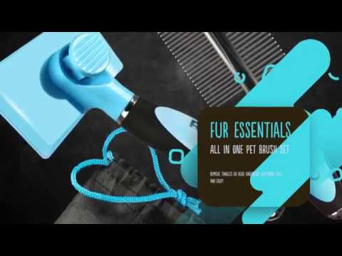Introducing The New RUBOLD Fur Essentials  Pet Grooming Brush Set