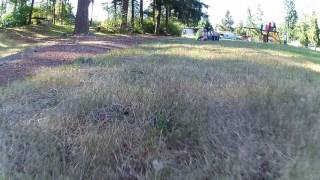 Drone FPV around the park with Hubsan H501s X4 brushless