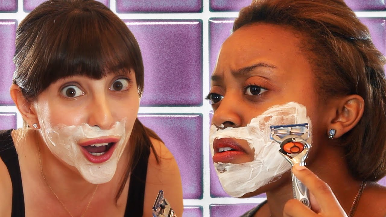 Girls Shave Their Faces For The First Time thumbnail