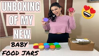 MY NEW BABY FOOD STORAGE CONTAINERS | WEESPROUT UNBOXING OF BABY FOOD JARS 2020 | BABY ESSENTIALS