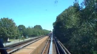 Skytrain In Vancouver. Timelapse. Expo Line.