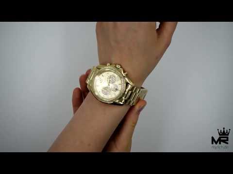 Michael Kors Damen Uhr Chronograph MK6538 Bradshaw Gold Edelstahl Zirkonia Armbanduhr