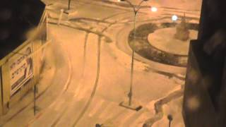 preview picture of video 'Snow in Petah Tikva 2015 02 20 3AM'