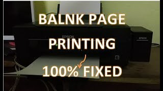 Printer Print Blank Page, how to fix this blank page in printer Epson and Other