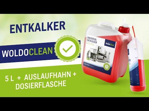 Anwendung Entkalker für Kaffeevollautomaten & Kaffeemaschine 5 liter Kanister mit Flasche