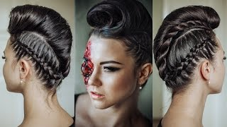 Futuristic Hairstyle For Halloween
