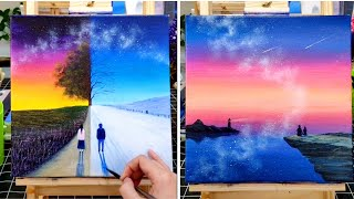 7 Easy Painting Tutorial For Beginners | Canvas Painting Ideas