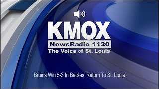 Bruins Win 5-3 In Backes' Return To St. Louis (Audio)