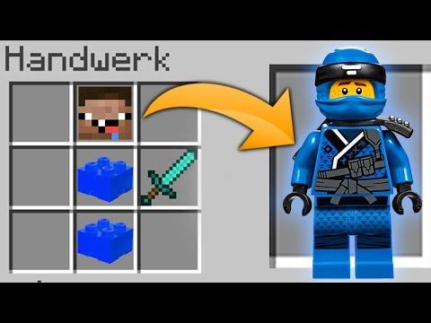 BLAUER LEGO NINJA CRAFTEN IN MINECRAFT