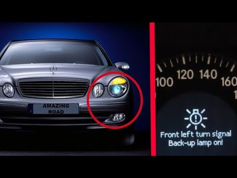 Mercedes W211 Hidden function of the fog lamps / Front Left turn signal Back-up lamp W211