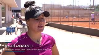 Bianca Andreescu At The Rafa Nadal Academy By Movistar