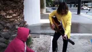Biffy Clyro - Simon playing 57 outside the hotel in Argentina