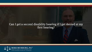 Video thumbnail: Can I get a second disability hearing if I get denied at my first hearing?
