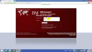 Hướng dẫn đăng nhập   BNI Connect Global