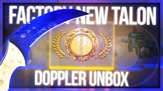 CS:GO TALON DOPPLER UNBOX (FIRST KNIFE IN 1 YEAR)