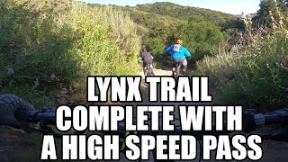 Lynx trail with a few different lines at the bottom.