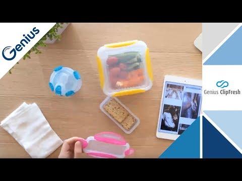 GENIUS   ClipFresh   Frischhaltedosen mit Clip für Mikrowelle und zum Einfrieren