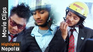 Najir Husen Funny College Life Scenes - Nepali Movie PUNTE PARADE