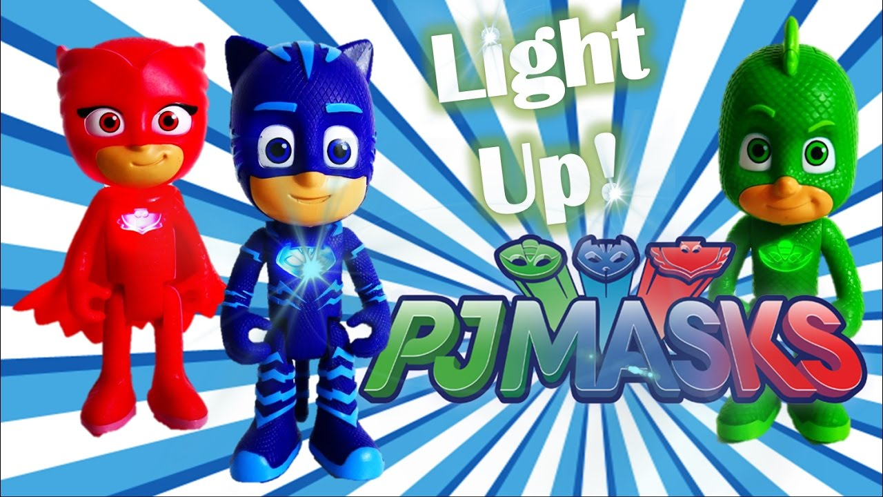 PJ Masks Toy Review Episode 2 - Light Up and Glowing Catboy Owlette Gekko | Evies Toy House