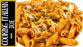 How to Make Vodka Sauce with Penne Pasta Cooking Italian with Joe