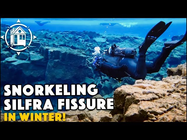 Snorkeling the Silfra Fissure ICELAND in Winter