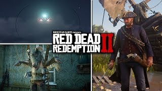 Red Dead Redemption 2 - Secrets & Easter Eggs - Second UFO, Bully, Civil War/Pirate Gear & Witches!