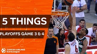 Turkish Airlines EuroLeague, Playoffs Game 3 & 4: 5 Things to Know
