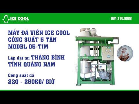 Máy làm đá viên ICE COOL 5 tấn lắp tại Bình Minh, Thăng Bình, Quảng Nam