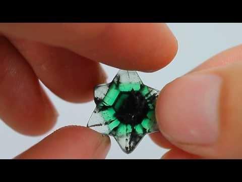Ritka kolumbiai smaragd csillagos Trapiche 13,25 karátos