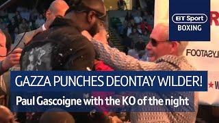 Gazza lands a sweet left hook on Deontay Wilder! 😲 - Video Youtube